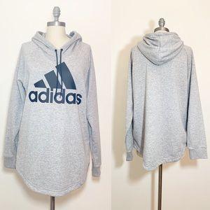 adidas Tops - NWT Womens Gray Adidas hoodie Tunic XL
